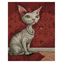 Ms Cat.40x50cm,Painting By Numbers,DIY,wall Art,Living Room Decoration,Scenery,Figure,Animal,Flower,Cartoon(China)