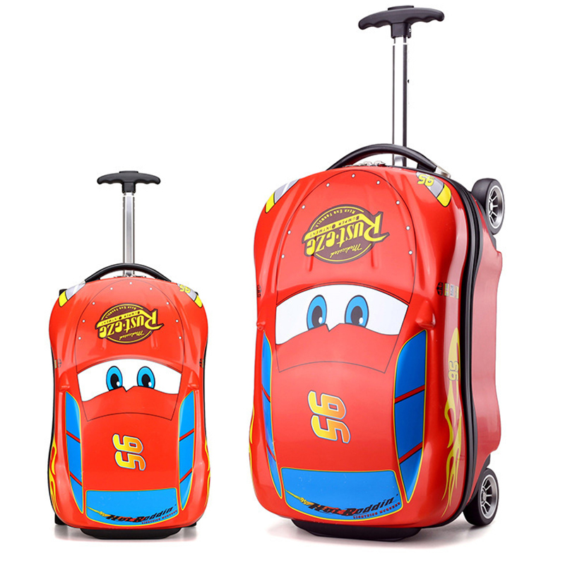 все цены на Kids Suitcase Car Travel Luggage Children Travel Trolley Suitcase for boys wheeled suitcase for kids Rolling luggage suitcase