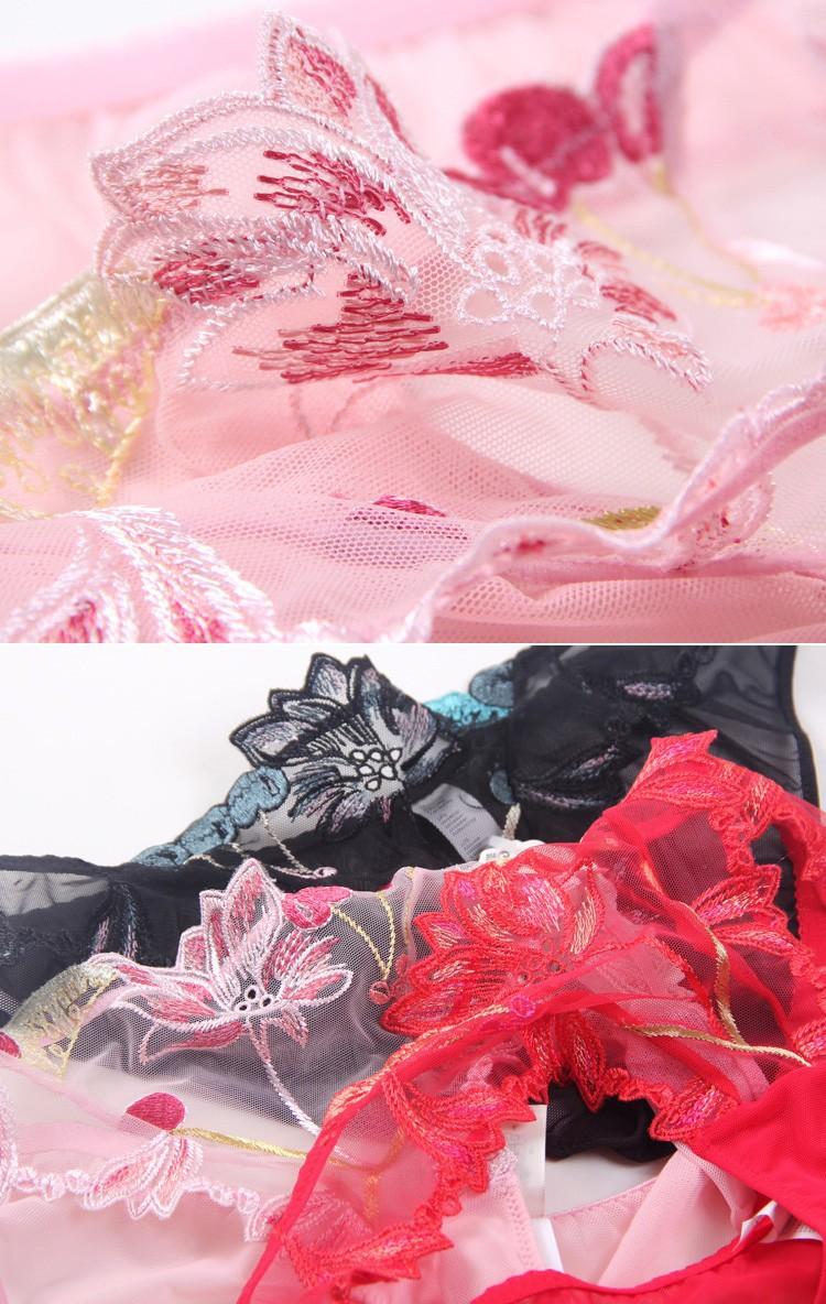 Free shipping Ultrathin embroidery lace bra bra brief sets women bra set sexy bra set women underwear set 27