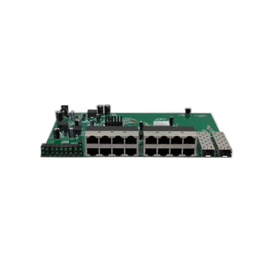 With VLAN GPON/EPON SOLUTION SUPPLIER 16 port 10/100M Reverse poe switch With 2 gigabit sfp port PCB 16 port poe switch with 2 gigabit tp sfp combo ports 802 3af 15 4w 10 100mbps