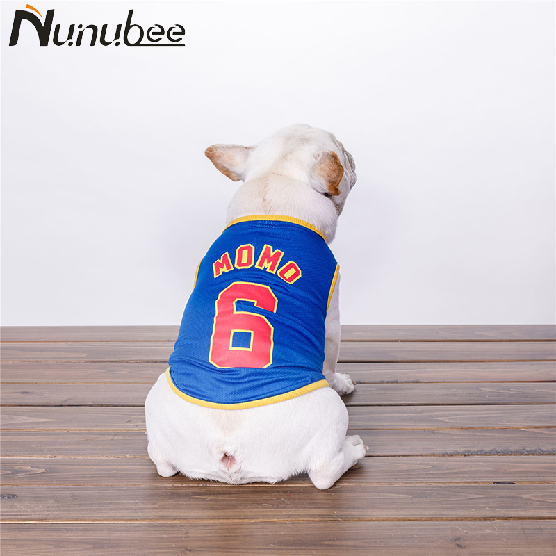 Nunubee Breathable Sports Vest Summer Dog Clothes No.6 Dog Shirt French Bulldog Clothes for Dogs Pet Product XS-XXXL