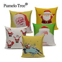 Christmas Festival Dachshund Cushion Cover 45X45cm Happy Birthday Sausage dog Pillow Cases Gift Bedroom Sofa Decor Love & Life