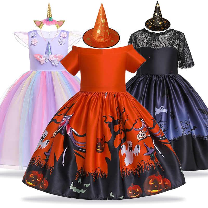 ยูนิคอร์นปาร์ตี้หญิงชุดเครื่องแต่งกายคริสต์มาสชุดเดรสสำหรับสาวเจ้าหญิงชุดเด็ก 4 5 6 7 8 9 10 ปี vestidos