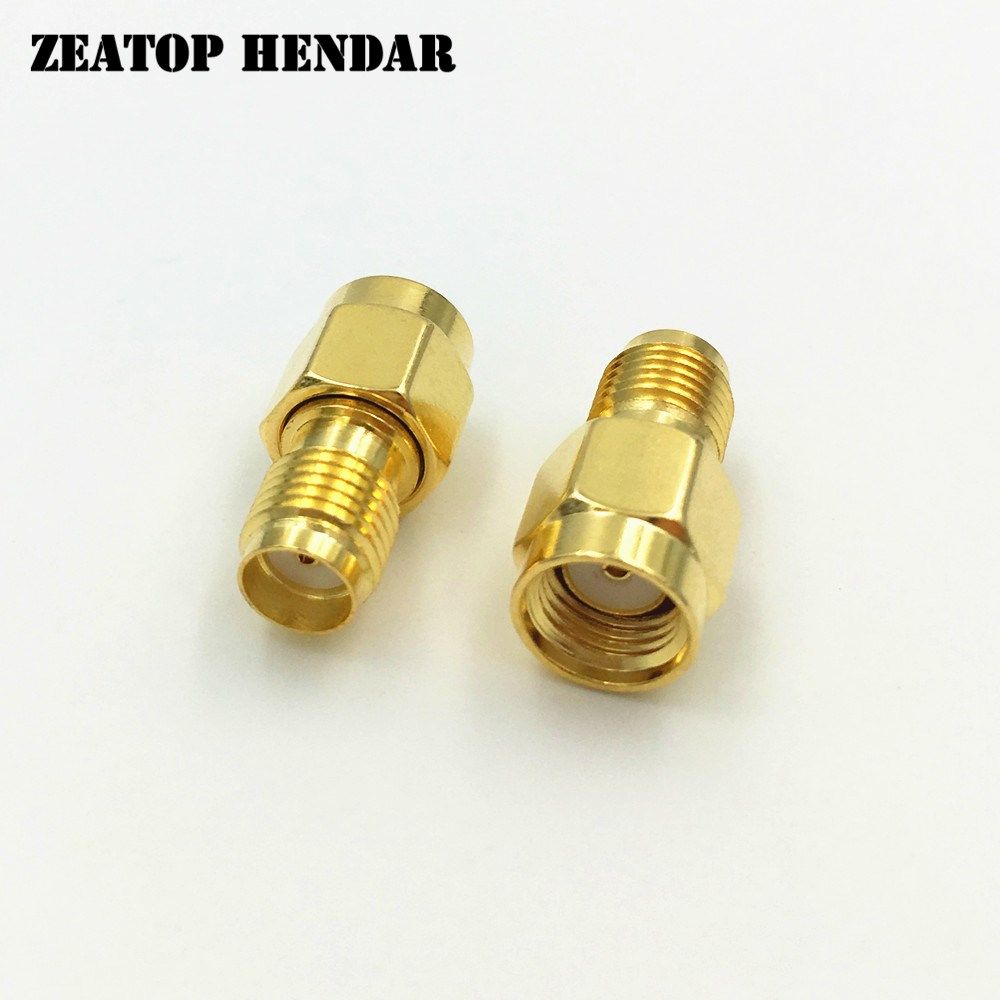 1000Pcs Brass Gold Plated SMA Female Jack to RP SMA Male Plug Straight RF Coaxial Coax Adapter ConnectorConnectors   -