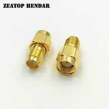 1000Pcs Brass Gold Plated SMA Female Jack to RP SMA Male Plug Straight RF Coaxial Coax Adapter Connector