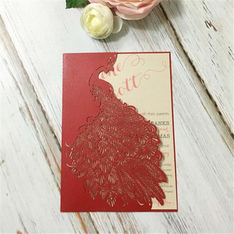 Hot Sale Elegant U0026 Artistic Paper Wedding Invitations Card Striking Laser  Cut Unique Peacock Design Invitations