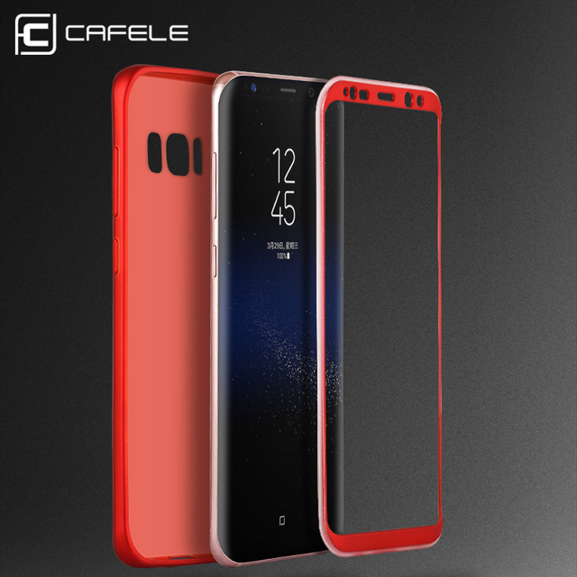 free shipping f0982 806c1 US $4.37 30% OFF|CAFELE TPU+PC Shockproof Case for Samsung Galaxy S8 / S8  Plus Luxury 360 Degree Full Protective Cover For Samsung S8 Case-in Fitted  ...