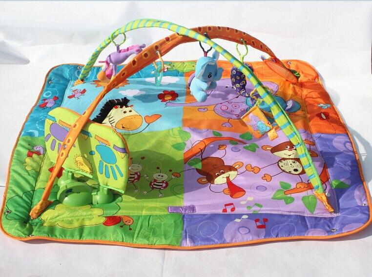 Bébé jouets jouer tapis de gymnastique éducatif couverture de sol infantile - 2