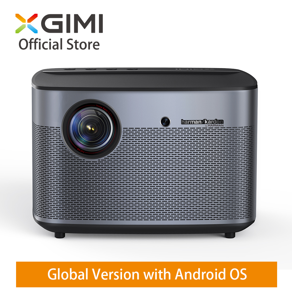 """Projecteur domestique Global XGIMI H2 DLP 1350ANSI Lumens 1080p LED 300 """"3D vidéo Android Wifi Bluetooth théâtre intelligent HDMI 4K projecteur"""