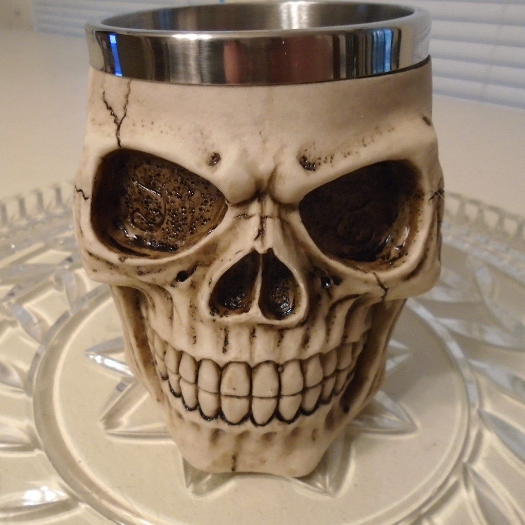 Creative Gifts 3D Special Skull Coffee Mug Cups Stainless