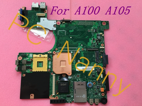цены  A105-S4547 MOTHERBOARD NOTEBOOK FOR TOSHIBA SATELLITE A100 A105 V000069110 6050A2101801 945GM + Free CPU Fully working Grade A