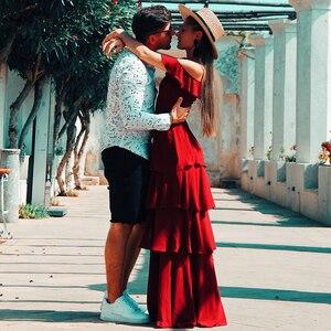 Image 5 - Ever Pretty элегантные сексуальные Длинные Бордовые Платья для подружки невесты, шифоновое платье с v образным вырезом и открытой спиной для свадебной вечеринки, платье подружки невесты