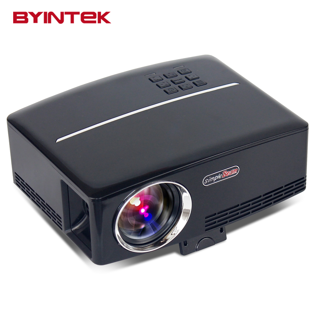 New arrival byintek gp80 home theater portable projector for Usb projector reviews