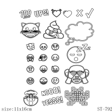 AZSG Lively expression Clear Stamps/seal for DIY Scrapbooking/Card Making/Photo Album Decoration Supplies