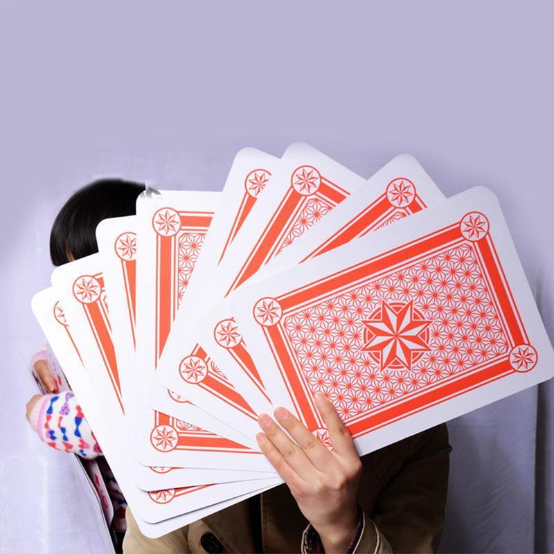 Super Grand Géant Jumbo Cartes À Jouer Pont Complet Énorme Standard Imprimer Nouveauté Poker Cartes À Jouer Indice Amusant pour Tous Les Âges