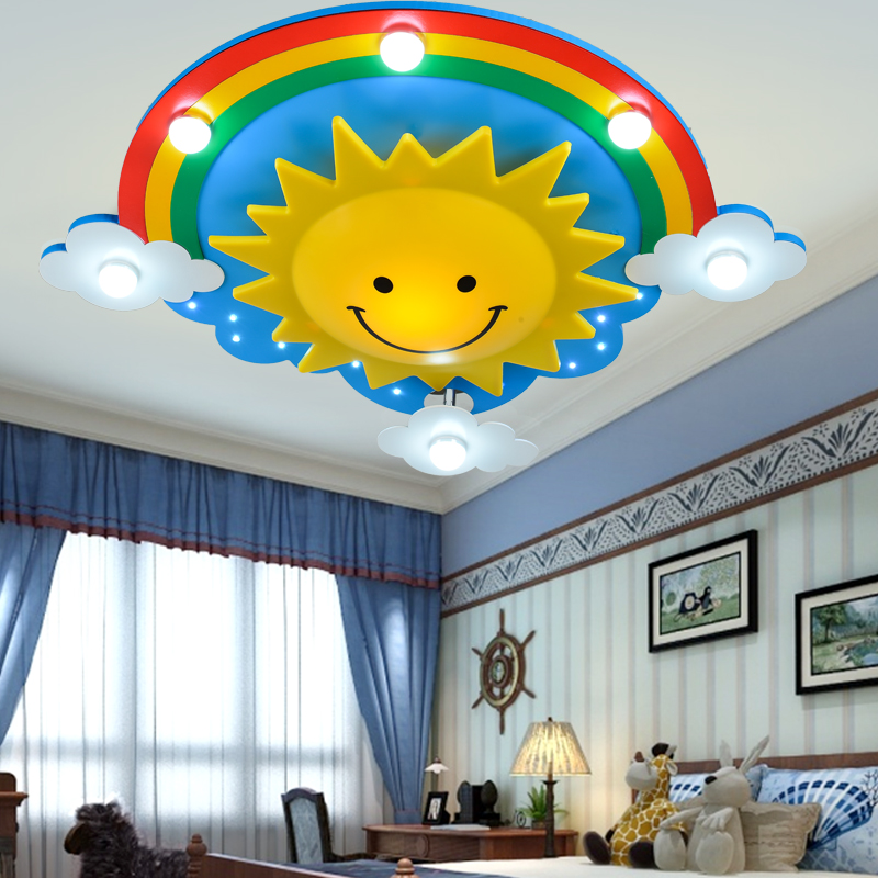 Creative children's room bedroom ceiling lamp with a warm light eye led boys and girls cartoon children room lighting creative cartoon baby cute led act the role ofing boy room bedroom chandeliers children room roof plane light absorption