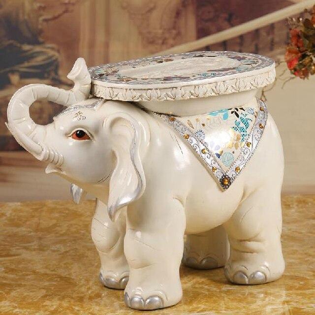 Blanco caliente elefante forma otomana sofá taburete antiguo ...