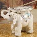 Quente White Elephant forma apoio para os pés móveis para casa pufe sofá banquinho banquinho Antigo tamanho grande sorte artesanato decoração de mesa