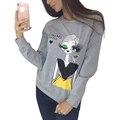 Fashion Women Hoodies Sweatshirts Long Sleeve O-Neck Harajuku Sweatshirt Moletom Feminina Casual Ladies Top LJ5615M