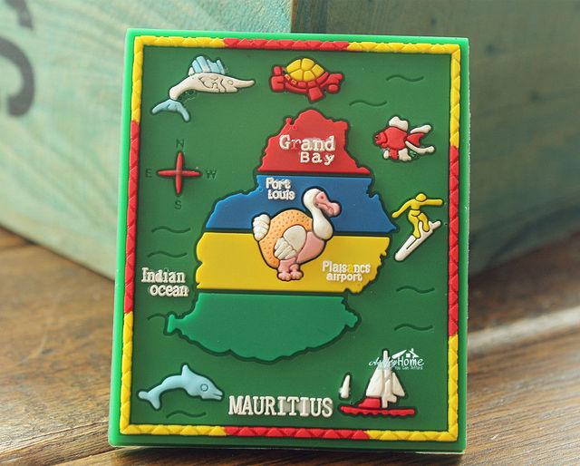 Map of Mauritius DODO Bird Tourist Travel Souvenir Rubber Fridge