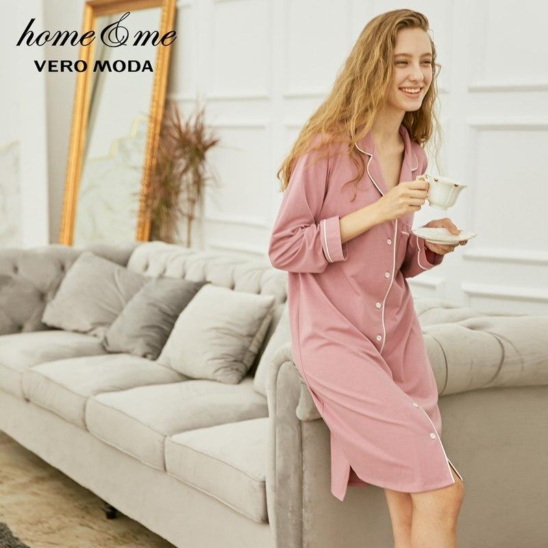 Image 3 - Vero Moda New Shirt Pure Night Dress  318361517-in Nightgowns & Sleepshirts from Underwear & Sleepwears