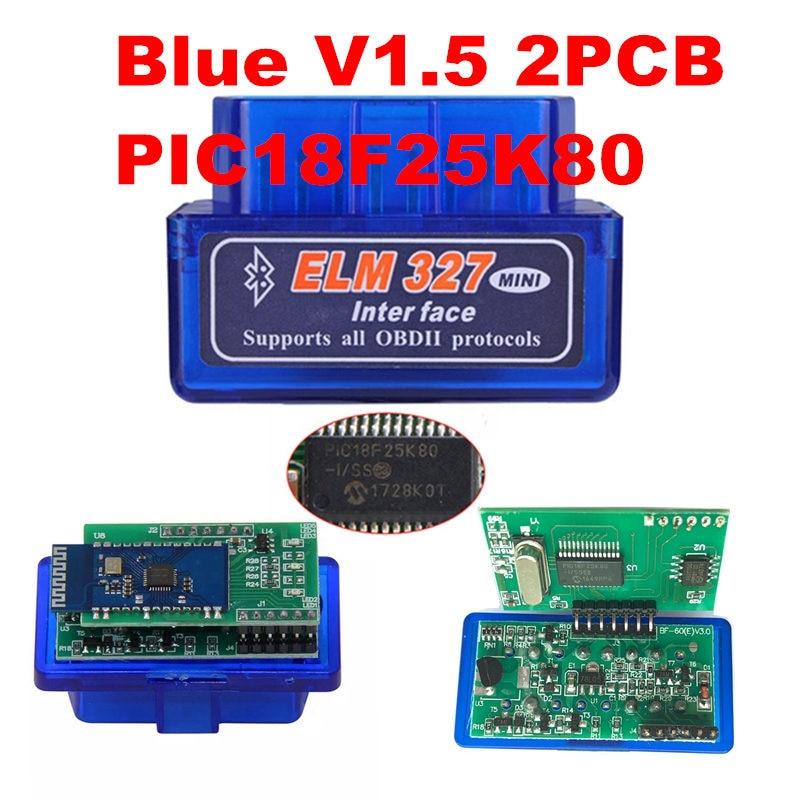 Dual Double 2PCB PIC18F25K80 Firmware 1.5 ELM327 V1.5 OBD2 BT Diagnostic Interface ELM 327 V1.5 Hardware Support More Car
