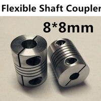 Wholesale 8mm X 8mm D20 L25 CNC Stepper Motor Shaft Coupler Flexible Coupling 8x8mm Motor Connector
