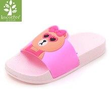 Kocotree mode sandal bayi anak-anak lucu sandal kelinci musim panas anak laki-laki perempuan sandal pantai sepatu anak-anak rumah