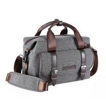 K&F CONCEPT Grey Prefessional Shoulder Camera Bag DSLR SLR Nylon Bag For EOS 5D 5DS/7D/6D 750D/7100D/800D цена