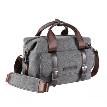 K&F CONCEPT Grey Prefessional Shoulder Camera Bag DSLR SLR Nylon Bag For EOS 5D 5DS/7D/6D 750D/7100D/800D