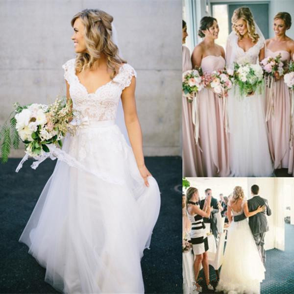 Cheap Wedding Gowns Uk: Bohemian Hippie Style Wedding Dresses For UK Sale 2019