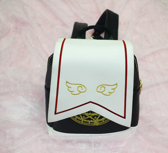 1 piece Harajuku Style Sailor Moon wing PU Backpack Cute Cat Shoulder Bag School Bags For