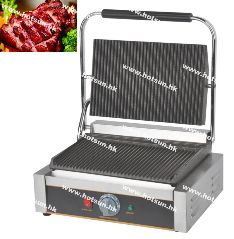 Commercial Heavy Duty Non-stick 220v Electric Ribbed Iron Plates Panini Press Contact Grill Griddle Toaster commercial heavy duty non stick 220v electric ribbed
