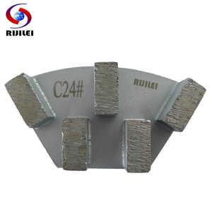 Image 2 - RIJILEI 12PCS Sector Metal Bond Diamond Grinding Disc for Concrete Floor Grinding Shoes Plate Strong Magnetic Grinding Disk A50