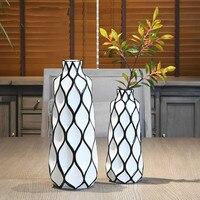 Черно белая ваза украшение керамическая ваза стол украшение дома креативное украшение