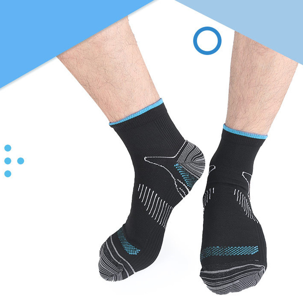 Man/'S Sports Short Tube Elastic Compression Breathable Sweat-absorbing Foot Sock