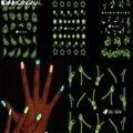 Новый Световой Nail Art Наклейки Надписи Украшения Переноса Воды Перо Звезда Молния Ученика Инструменты Дизайн Бесплатная Доставка Оптовые