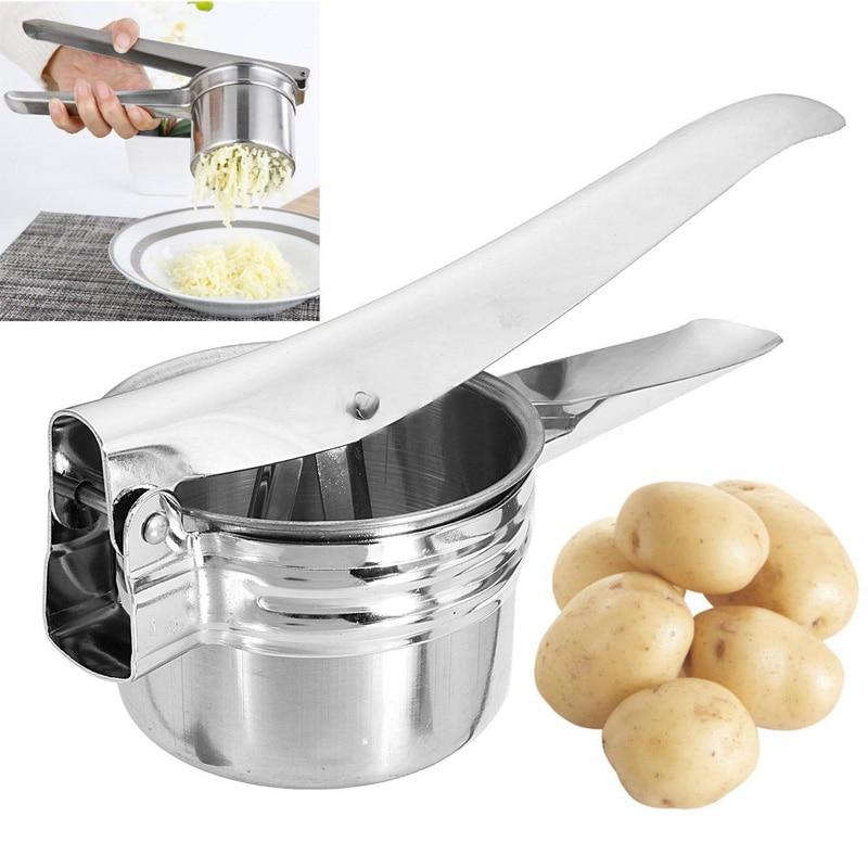 Pro de acero inoxidable patata Ricer Masher fruta prensa cocina herramientas 1 unid