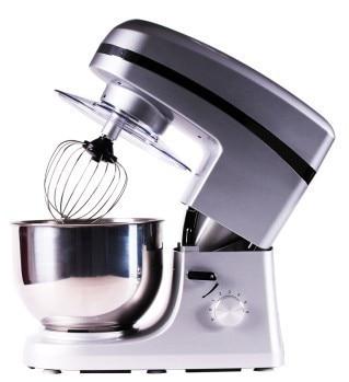 Çok İşlevli Standı Gıda Mikser Hamur karıştırıcı gıda makinesi 5L gümüş renk