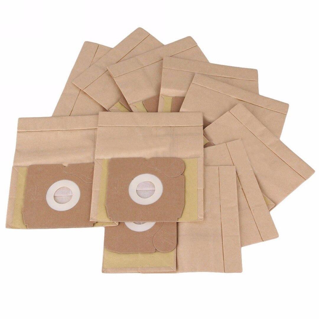 Popular 10Pcs Disposable Filter Bag Vacuum Cleaner Kraft Paper Dust Bag  Mayitr Vacuum Cleaner Parts клещи переставные kraftool kraft max 22011 10 25