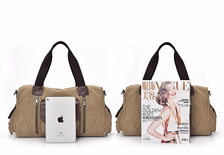 Famous Brand Men Vintage Canvas Men Travel Bags Women Weekend Carry On Luggage & Bags Leisure Duffle Bag Large Capacity Handbags (43)