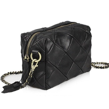 Sheepskin patchwork mini messenger bag Genuine leather chain Shoulder bag for Women's Crossbody Bags bolsas little bag ladies