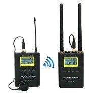 WM 9 UHF беспроводной микрофон системы м 100 м Distanc 50 канала петличный нагрудные Mic приемник передатчик для DSLR Canon sony регистраторы