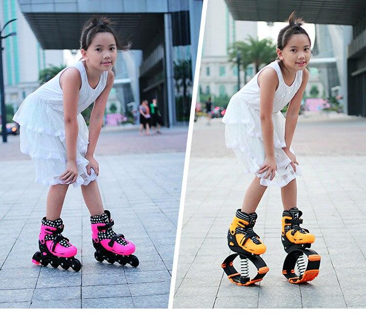 2 en 1 Skate et kangourou chaussures de saut exercice de Fitness 30-50 kg (66lb-110lb) espace chaussures rebondissantes, chaussures de saut de sortie d'usine