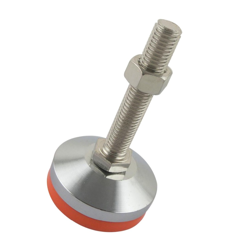 M20x150mm Adjustable Foot Cups 80mm Diameter Chrome Plated M20 Thread 150mm Length Articulated Leveling Foot
