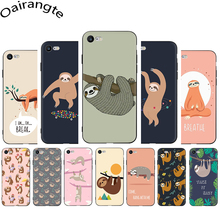 Cute sloth funny cartoon Soft Silicone Phone case for
