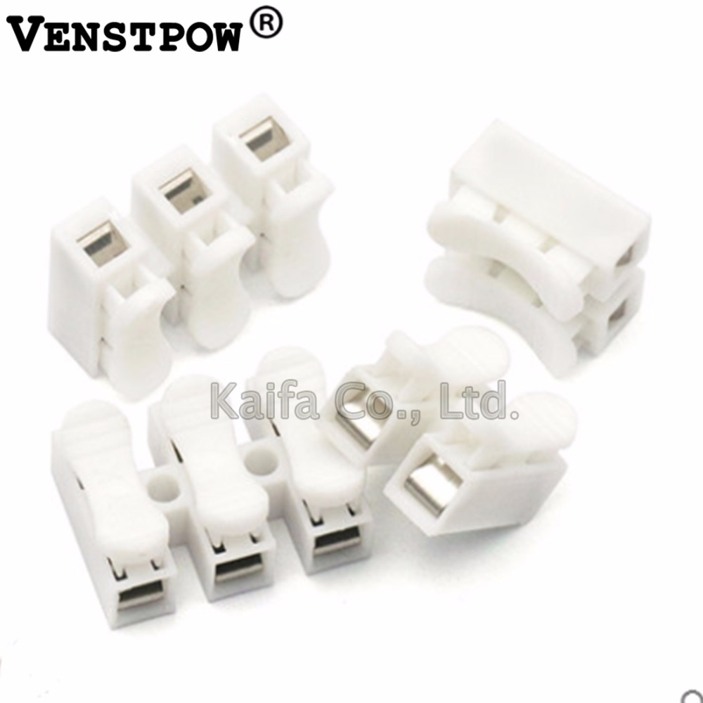 где купить 10pcs/lot 2 3 Pins Electrical Cable Connectors CH2 CH3 Quick Splice Lock Wire Terminals Set 2 3 Way Fit Led Strip дешево