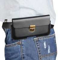 Genuine Leather Belt Clip Pouch Cover Case For Highscreen Thunder Bay Spade 5 5 Inch