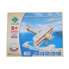 1 pc 3D Veículo Puzzles Quebra-cabeças De Madeira para Crianças Adultos Sopwith Triplane Brinquedos Aprendizagem Educação Ambiental Brinquedo de Montar