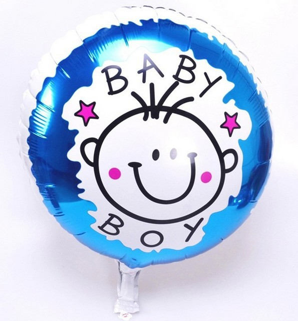 baby boy balloon Birthday party decoration baby boy shower balao de ...